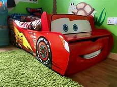 children bed disney cars lightning mcqueen feature