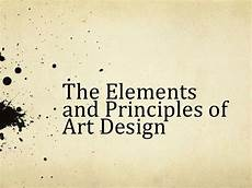 Design Of Machine Elements Powerpoint Elements Amp Principles Of Art Design Powerpoint