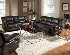 bonded leather reclining sofa set newport black