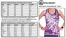 Inknburn Size Chart Size Chart Inknburn Running And Workout Gear