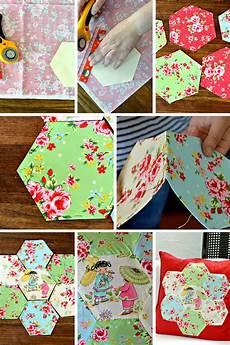 applique patchwork gorgeous chinoise applique hexagon patchwork cushion