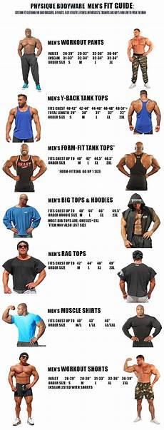 Body Size Chart Physique Bodyware Men S Size Chart Workout Pants Y Back