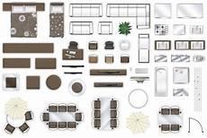 Designer Furniture Plans 2d Furniture Floorplan View Style 3 3d Cgtrader
