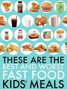 Food Chart For Kids Children S Calorie Comparing Charts Fast Food Kids Meals