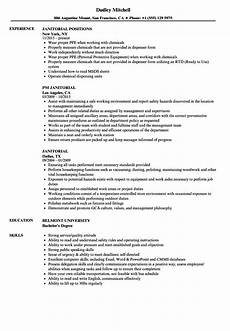 Janitorial Skills Janitor Resume Sample Louiesportsmouth Com