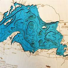 Sooner Lake Depth Chart Lake Superior 3 D Nautical Wood Map 16 Quot X 20 Quot On Tahoe Time