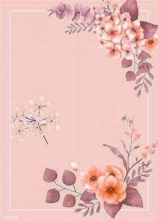 Nice Wedding Background Download Premium Vector Of Pink Themed Floral Wedding Card