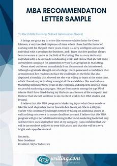 Letters Of Recommendation For Mba Check This Professional Sample Mba Recommendation Letter