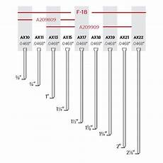 18 Gauge Brad Nail Size Chart Senco Medium Head Brad Nails 5m Box 2 Quot Inch X 18 Gauge
