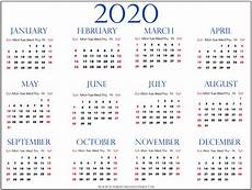 Calendar Print Out 2020 2020 Calendars Download Pdf Templates
