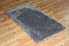 4 x 6 gray faux fur rug non slip washable soft look