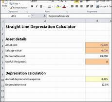 Depreciation Calculator Straight Line Depreciation Calculator Double Entry