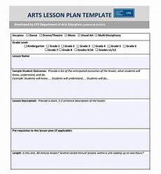 Cps Lesson Plan Template Free 8 Sample Art Lesson Plan Templates In Pdf Ms Word