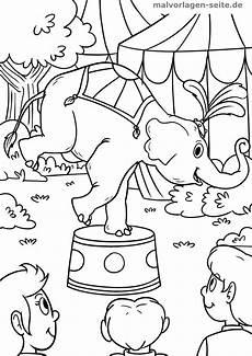 malvorlage zirkus elefant ausmalbilder kostenlos