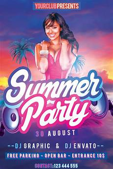 Free Flyer Template Psd Summer Party Flyer Free Psd Template By Klarensm On Deviantart