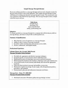 Spa Therapist Cv Therapist Resume Cover Letter Template