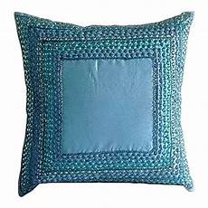 Farmhouse Sofa Pillows 3d Image by The Homecentric Blue Pillow Covers 18x18 Inch 45x45 Cm