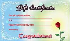Examples Of Gift Cards Rose Gift Certificate