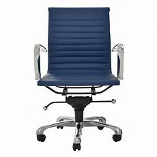 watson blue low back desk chair el dorado furniture