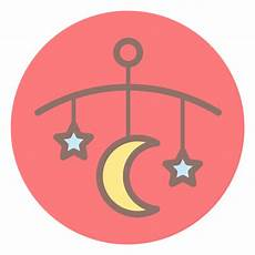 baby bed bell circle icon transparent png svg vector
