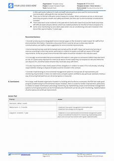 Audit Report Template Environmental Audit Report Example A Free And Editable