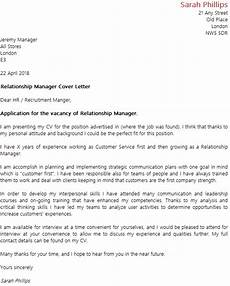 Relationship Manager Cover Letter Relationship Manager Cover Letter Example Icover Org Uk