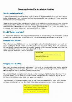 What To Say In A Covering Letters Covering Letter For A Job Application