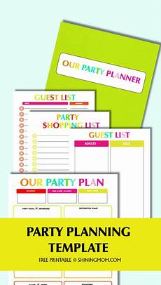 Party Planning Templates Free Printable Party Planning Template