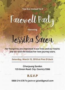 Farewell Invitation Samples Farewell Party Invitation Design Template In Word Psd