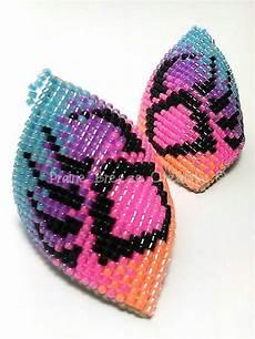 beadwork earrings curved style claw beaded earrings