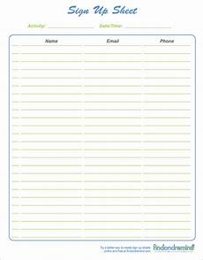 Printable Sign Up Sheets Sign Up Sheet Template 13 Download Free Documents In