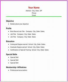 Easy Resume Template Word The 10 Second Resume Rule Next Step Resume