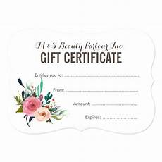 Hair Salon Gift Certificate Template Free Painted Floral Salon Gift Certificate Template Zazzle Ca