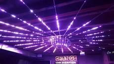 Led Light Installation Ws2812b Led Ceiling Installation Disco Lights Youtube