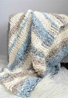 cuddly knit throw blanket pattern in a stitch