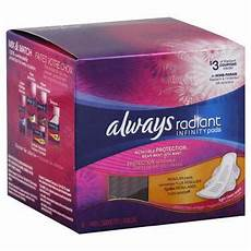 Always Light Pads Always Radiant Infinity Regular With Wings Scented Pads 16