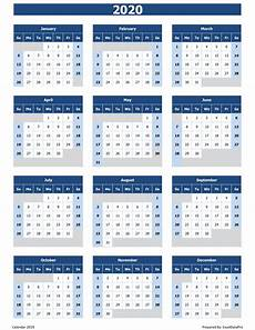 Template 2020 Calendar 2020 Calendar Excel Templates Printable Pdfs Amp Images