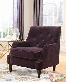 purple accent chairs eggplant purple button tufted accent chair with welted trim