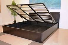 storage ottoman gas lift up bed frame with mattress choice