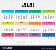 Printable 2020 12 Month Calendar 12 Month Calendar 2020 Printable With Holidays Monthly