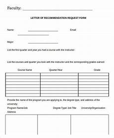 Letter Of Recommendation Forms 28 Recommendation Letter Templates In Doc Free