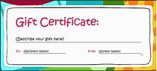 Make Gift Certificates Online Free 7 Make Your Own Gift Voucher Template Free