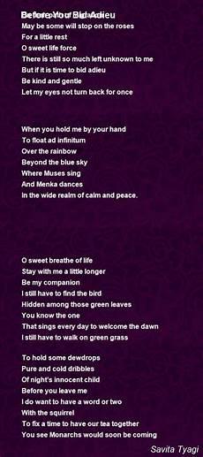 i bid you adieu before you bid adieu poem by savita tyagi poem