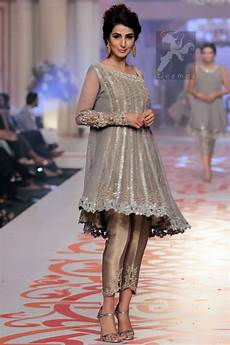 Dress Design Features Designer Wear Silver Golden Dress 2016