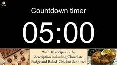 5 Minute Powerpoint Timer 5 Minute Countdown Timer With Alarm Including 10 Recipes