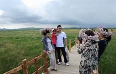 fresco clima turistas disfrutan clima fresco en prado de bashang 4