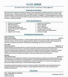 Adjunct Instructor Resume Adjunct Professor Resume Sample Resumes Misc Livecareer