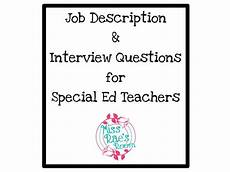 Interview Questions For Special Education Teachers Job Description Amp Interview Questions For Special Ed