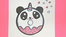 kawaii einhorn panda donut malen