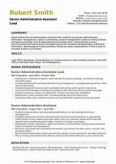 Senior Administrative Assistant Job Description Senior Administrative Assistant Resume Samples Qwikresume